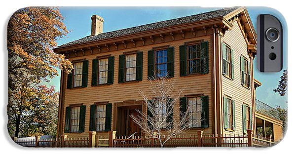 Historic Site iPhone Cases - Lincolns Home -- Springfield iPhone Case by Stephen Stookey