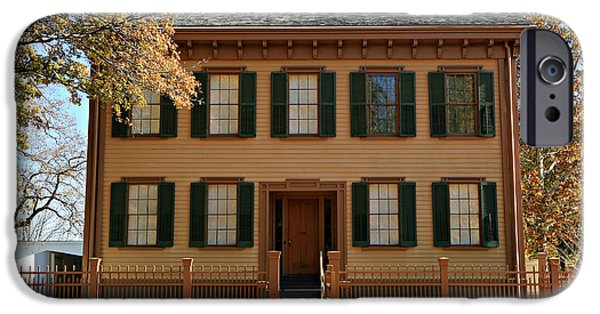 Historic Site iPhone Cases - Lincolns Home iPhone Case by Stephen Stookey