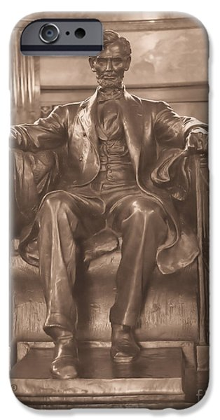 President iPhone Cases - Lincolns Tomb and His Statue iPhone Case by Luther   Fine Art