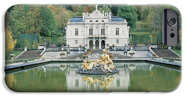 Pathway iPhone Cases - Linderhof Castle Germany iPhone Case by Panoramic Images