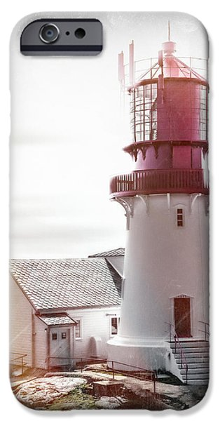 World War One iPhone Cases - Lindesnes Lighthouse - Vintage iPhone Case by Erik Brede