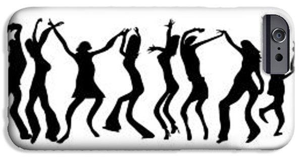 Ballet Dancers iPhone Cases - Line Dance iPhone Case by Daniel Hagerman