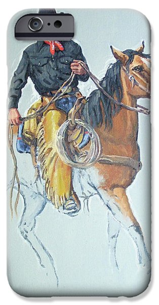 Chaps iPhone Cases - Line Rider iPhone Case by Randy Follis