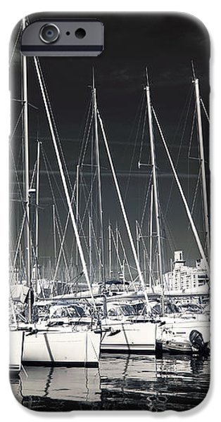 Lined Up in Marseille iPhone Case by John Rizzuto