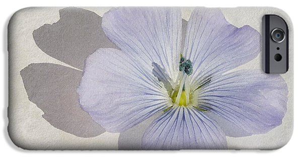 Fragility iPhone Cases - Linen Watercolour iPhone Case by John Edwards