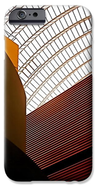 Lines and Light iPhone Case by Rona Black