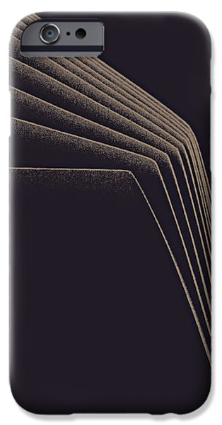 Asymmetrical iPhone Cases - Lines of descent iPhone Case by Bob RL Evans