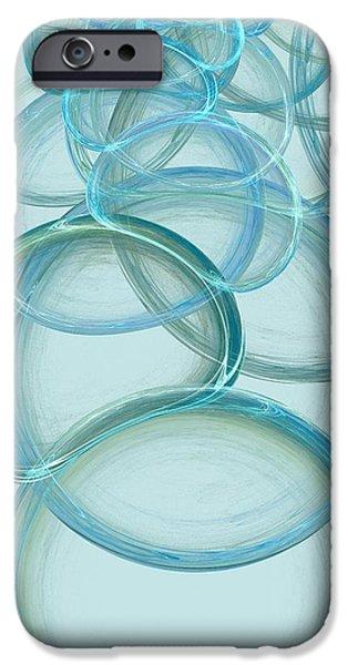 Aqua iPhone Cases - Linked iPhone Case by Anastasiya Malakhova