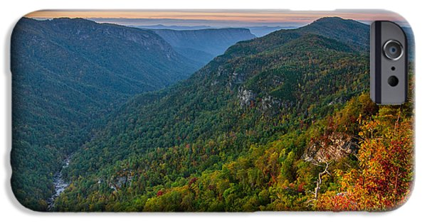 Recently Sold -  - Grand Canyon iPhone Cases - Linville Gorge autumn iPhone Case by Anthony Heflin