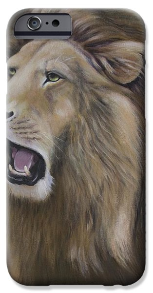 Bhymer iPhone Cases - Lion iPhone Case by Barbara Hymer