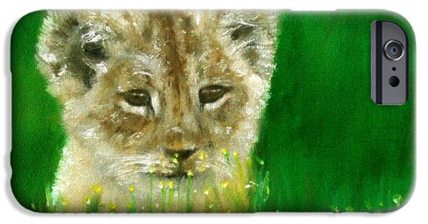 Business iPhone Cases - Lion Cub iPhone Case by Dylan Williams