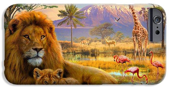 Savannah iPhone Cases - Lion iPhone Case by Jan Patrik Krasny
