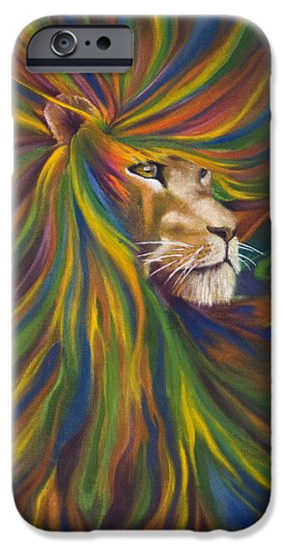 Lion iPhone Case by Kd Neeley