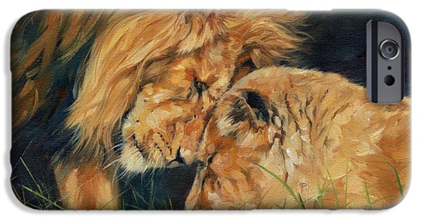 Recently Sold -  - David iPhone Cases - Lion  Love iPhone Case by David Stribbling