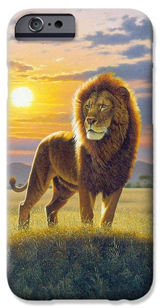 Proud iPhone Cases - Lion iPhone Case by MGL Studio - Chris Hiett