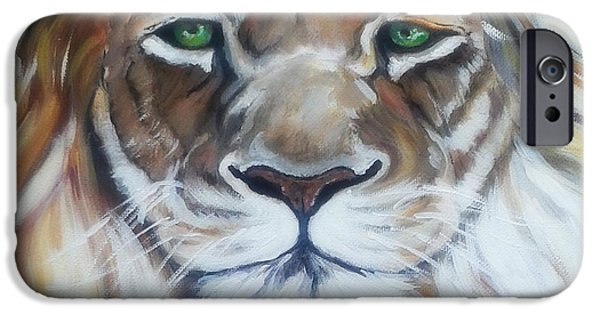 Face Recognition iPhone Cases - Lion Of Judah close up iPhone Case by MarLa Hoover
