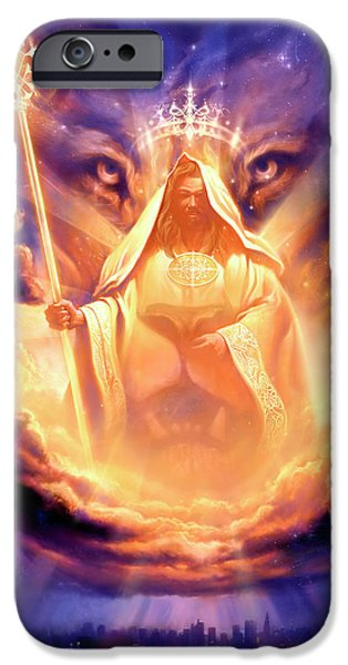 Lion Art iPhone Cases - Lion of Judah iPhone Case by Jeff Haynie