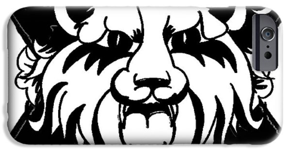 Arkansas Drawings iPhone Cases - Lion of Judah iPhone Case by Marvin Barham