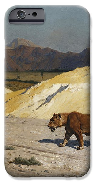 Lioness and Cubs iPhone Case by Jean Leon Gerome