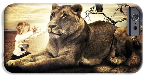 Noble iPhone Cases - Lionheart iPhone Case by Erik Brede