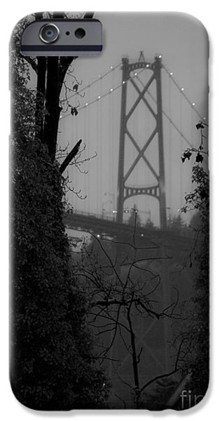 Lions Gate Bridge iPhone Case by Nancy Harrison