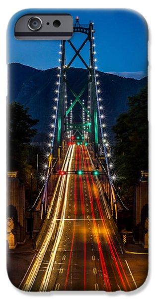 Lion's Gate Bridge Vancouver B.C Canada iPhone Case by Pierre Leclerc Photography