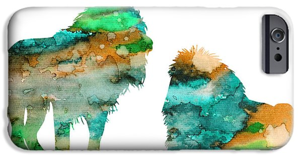 Lion Art iPhone Cases - Lions iPhone Case by Luke and Slavi