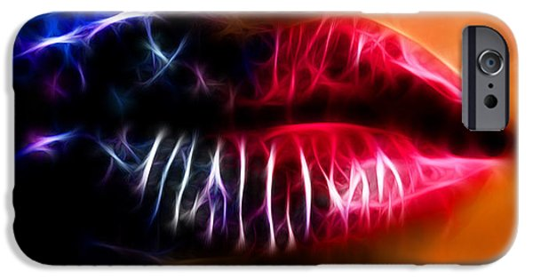Seductive iPhone Cases - Lips for Kissing iPhone Case by Sotiris Filippou