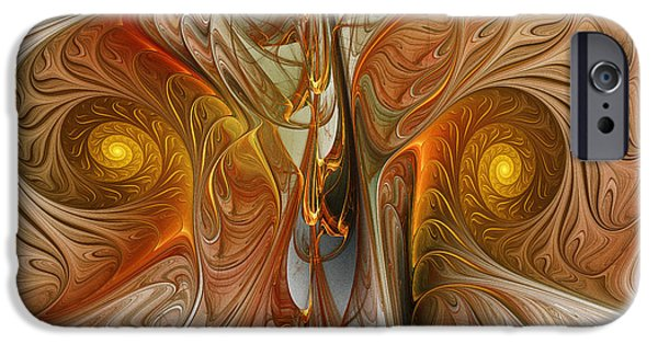 Contemplative iPhone Cases - Liquid Crystal Spirals iPhone Case by Karin Kuhlmann