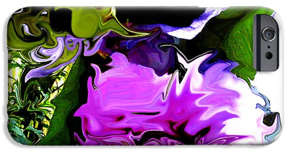 Technical iPhone Cases - Liquid Flower Duvet iPhone Case by Gardening Perfection