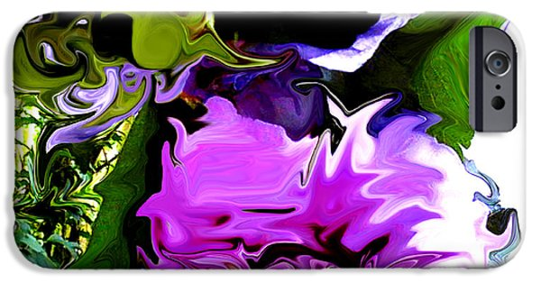 Concept Art iPhone Cases - Liquid Flower iPhone Case by Gardening Perfection