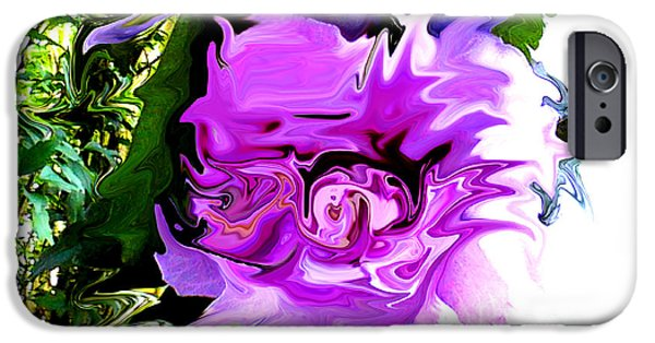Technical iPhone Cases - Liquid Flower iPhone Case by Gardening Perfection