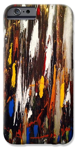 Abstract Expressionism iPhone Cases - Liquid Miles iPhone Case by Edward Paul