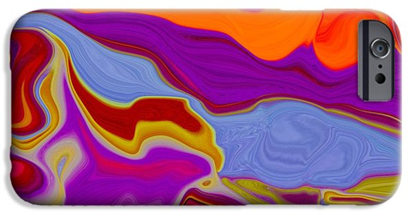 Abstract Digital Pastels iPhone Cases - Liquid Stream iPhone Case by Imani  Morales