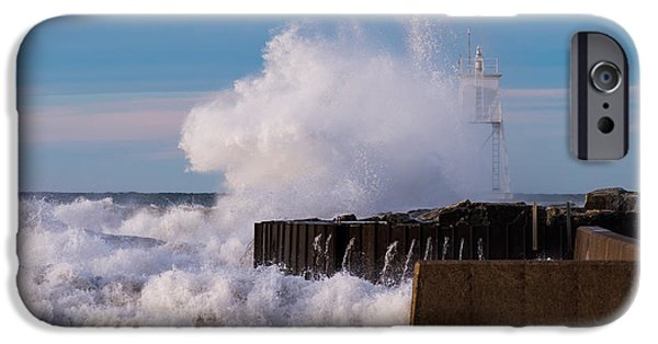 Lighthouse iPhone Cases - Liquid Thunder iPhone Case by James Marvin Phelps