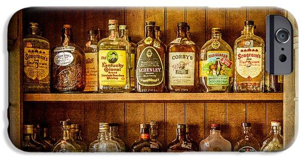 Log Cabin Art iPhone Cases - Liquor Cabinet iPhone Case by Paul Freidlund