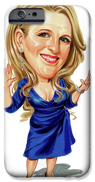 Mean iPhone Cases - Lisa Lampanelli iPhone Case by Art