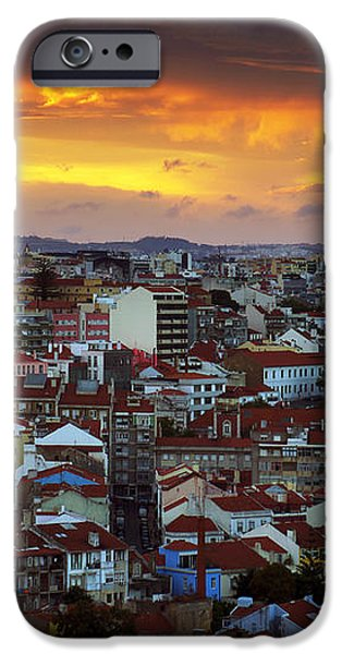 Lisbon at Sunset iPhone Case by Carlos Caetano