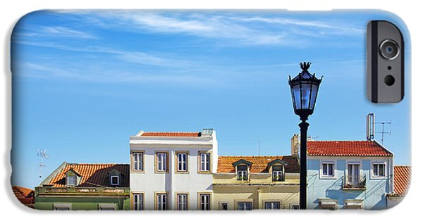 Balcony Photographs iPhone Cases - Lisbon Houses iPhone Case by Carlos Caetano