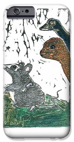 Alice In Wonderland Reliefs iPhone Cases - Listening iPhone Case by Barbara M Wilson