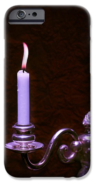 Lit Candle iPhone Case by Amanda And Christopher Elwell