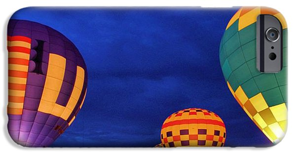 Hot Air Balloon iPhone Cases - Lit Up iPhone Case by Dan Sproul