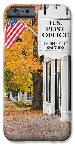 Fall In New England iPhone Cases - Litchfield Connecticut iPhone Case by Bill  Wakeley