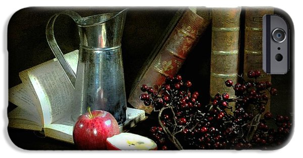 Still Life With Pitcher iPhone Cases - Literature iPhone Case by Diana Angstadt