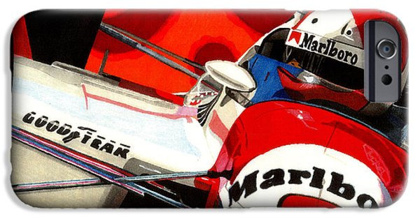 Indy Car iPhone Cases - Little Al iPhone Case by Cory Still