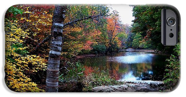 Androscoggin iPhone Cases - Little Androscoggin River iPhone Case by Mike Breau
