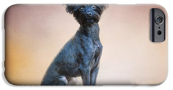 Yorkshire Terrier Art iPhone Cases - Little Angel iPhone Case by Jai Johnson
