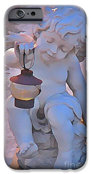 Halifax Art Work iPhone Cases - Little Angels Light The Way iPhone Case by John Malone