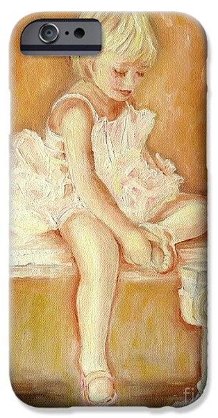 Best Sellers -  - Ballet Dancers iPhone Cases - Little Ballerina iPhone Case by Carole Spandau