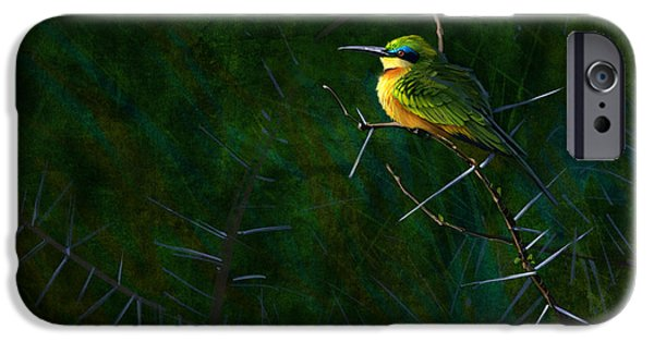 Africans iPhone Cases - Little Bee Eater iPhone Case by Aaron Blaise